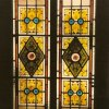 Restoration of Victorian stained glass door, Cambridge